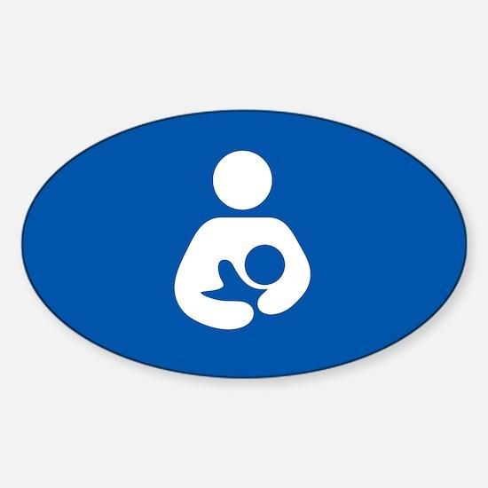 breastfeeding icon rectangle Decal