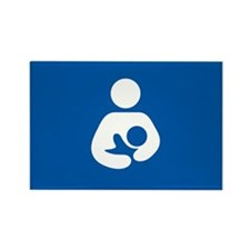 breastfeeding icon rectangle Magnets