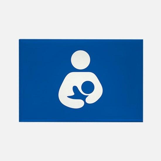 breastfeeding icon rectangle Magnets