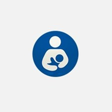 breastfeeding icon rectangl Mini Button (100 pack)