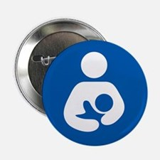"breastfeeding icon rectang 2.25"" Button (100 pack)"