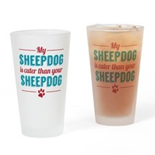 Cuter Sheepdog Drinking Glass