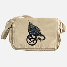Pentagram Pentacle Dragon Messenger Bag