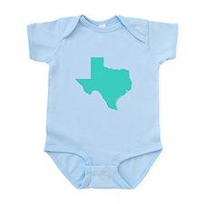 Turquoise Texas Outline Infant Bodysuit