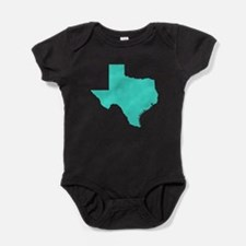 Turquoise Texas Outline Baby Bodysuit