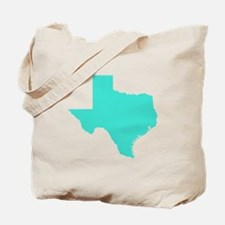 Turquoise Texas Outline Tote Bag