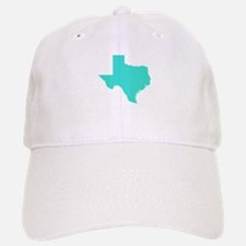 Turquoise Texas Outline Baseball Baseball Cap