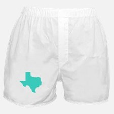 Turquoise Texas Outline Boxer Shorts
