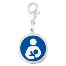 breastfeeding icon rectangle Charms
