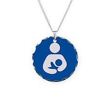 breastfeeding icon rectangle Necklace