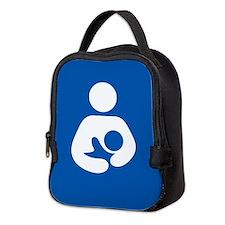 breastfeeding icon rectangle Neoprene Lunch Bag