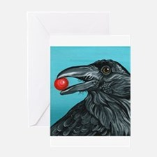 Black Raven Crow Greeting Cards