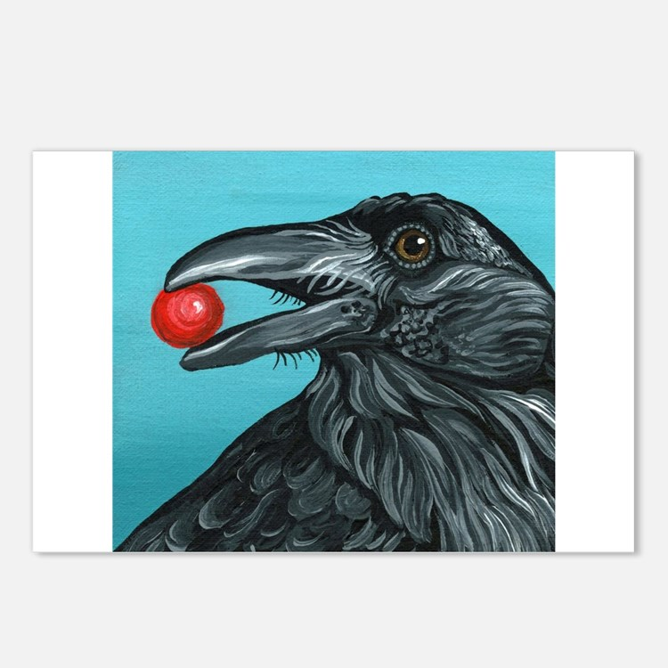 Black Raven Crow Postcards (Package of 8)