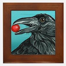 Black Raven Crow Framed Tile