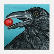 Black Raven Crow Tile Coaster
