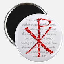 John 15:18-19 Magnet