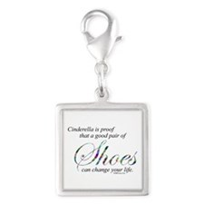 Cinderella is Proof... Silver Square Charm
