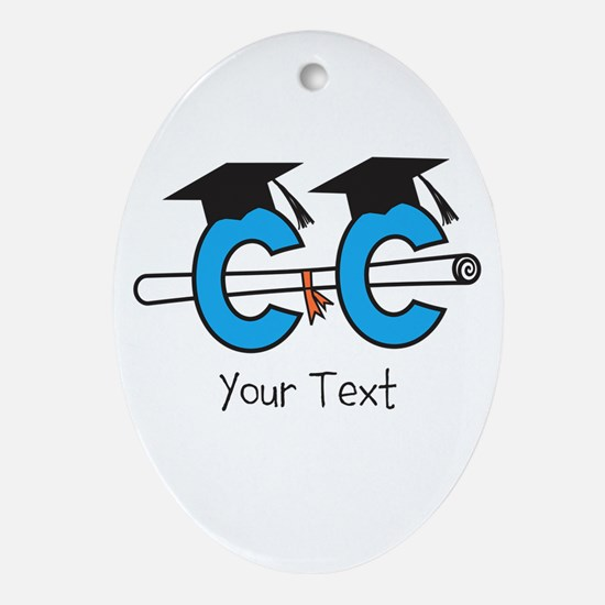 Customize Cross Country Grad Ornament (Oval)