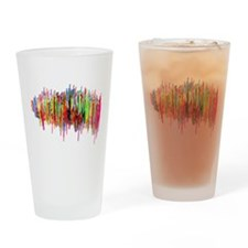 Sound Waves in Color Drinking Glass