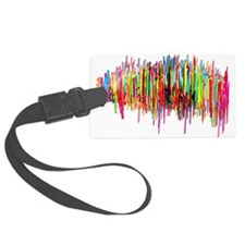 Sound Waves in Color Luggage Tag