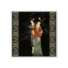 """Two Japanese Women Square Sticker 3"""" x 3"""""""
