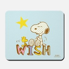 Snoopy And Woodstock Wish Mousepad