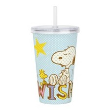 Snoopy And Woodstock Acrylic Double-Wall Tumbler