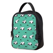 Mustached Snoopy Neoprene Lunch Bag