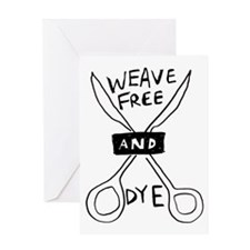 weave free and dye Greeting Card