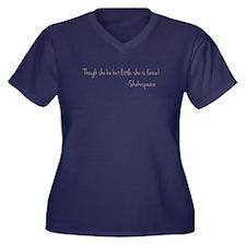 She is Fiere Women's Plus Size V-Neck Dark T-Shirt