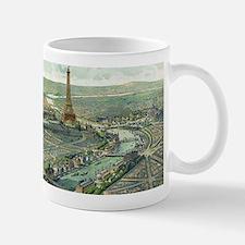 Vintage Pictorial Map of Paris (1900) Mugs