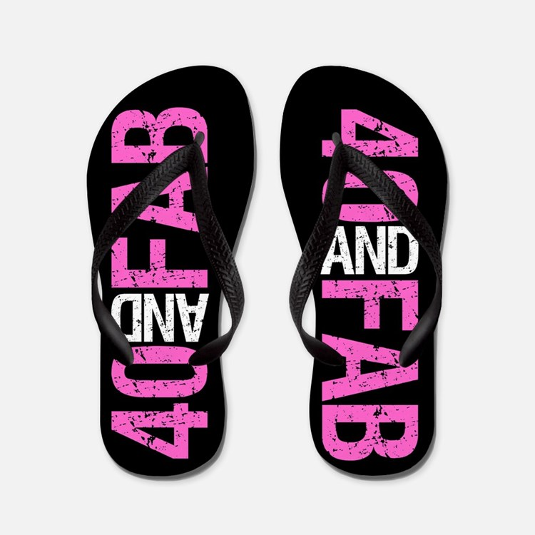 Fabulous 40th Birthday Flip Flops