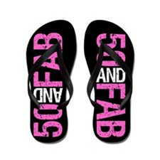 Fabulous 50th Birthday Flip Flops