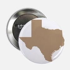 """Tan Texas Outline 2.25"""" Button"""