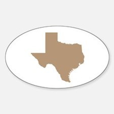 Tan Texas Outline Decal