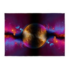 When Worlds Collide in Fire 5'x7'Area Rug