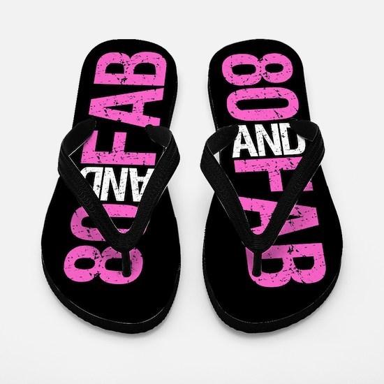 Fabulous 80th Birthday Flip Flops