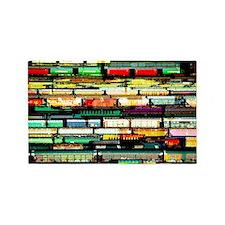 Tracks of Trains Area Rug