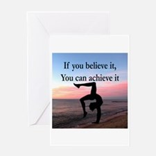 GYMNAST INSPIRATION Greeting Card