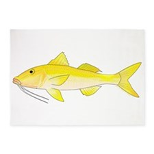 Gold Saddle Goatfish 5'x7'Area Rug