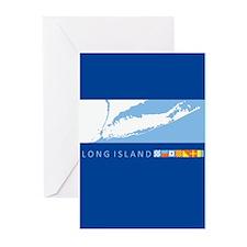 Long Island - New York. Greeting Cards (Pk of 20)