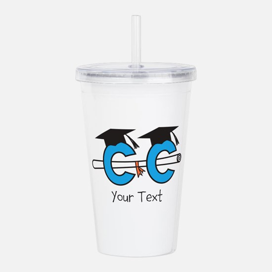 XC Grad Optional Text Acrylic Double-wall Tumbler