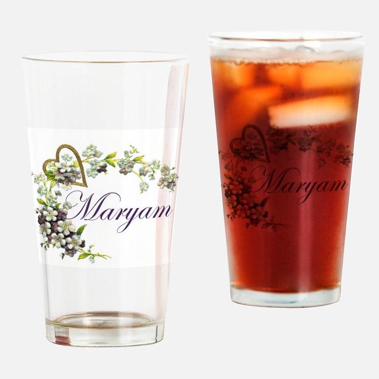 Cute Maryam Drinking Glass