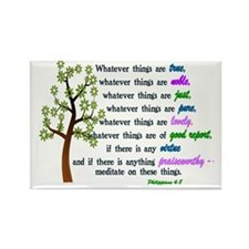 Philippians 4:8 - WHATEVER THINGS Rectangle Magnet
