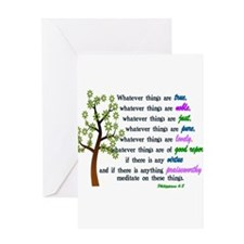 Philippians 4:8 - WHATEVER THINGS A Greeting Cards