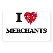 I love Merchants Decal