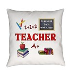 Teachers Do It With Class Everyday Pillow
