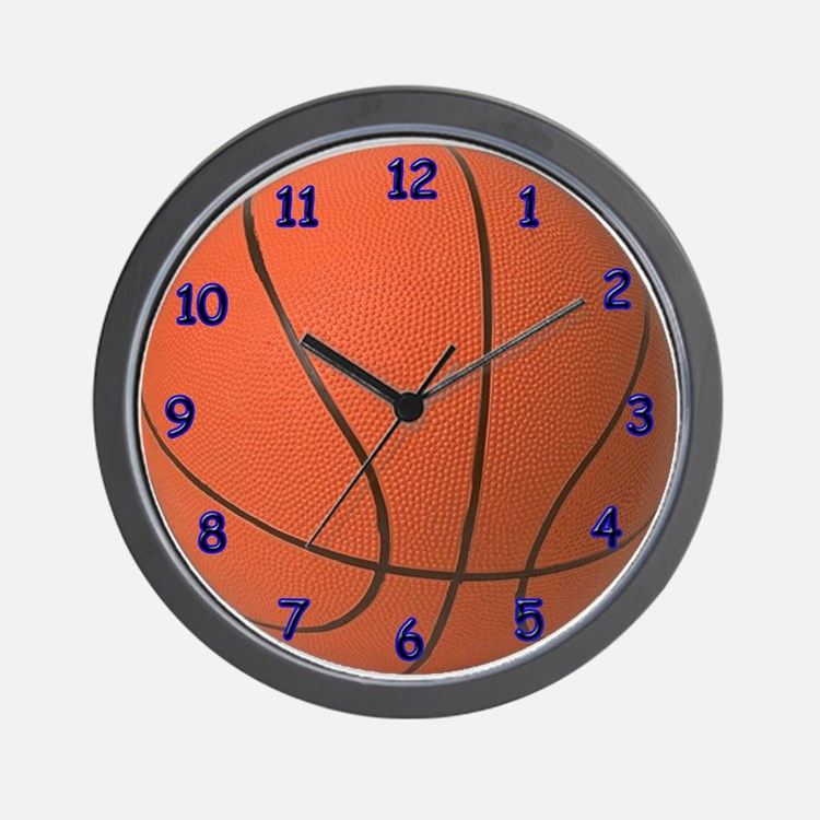 Basketball Clock Blue Wall Clock