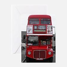 London Bus Greeting Cards