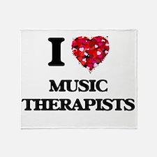 I love Music Therapists Throw Blanket
